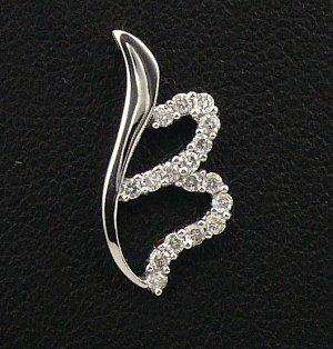 18K White Gold 0.15cts. Diamond Pendant