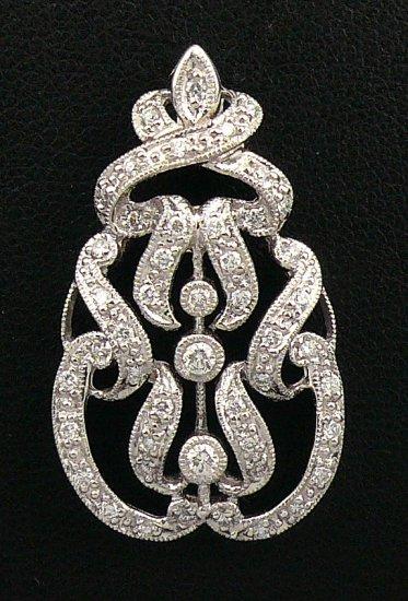 18K White Gold 0.35cts Diamond Pendant