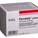 For iron and folic acid deficiency – Ferretab N100 tabs