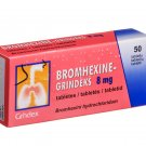 Bromhexine 8mg/tablet, 50 tablets. Acute and Chronic Bronchitis, Cold, Flu