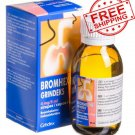 Bromhexine 4 mg Syrup/100 ml for children. Chronic Bronchitis, Flu, Sore Throats Treatment