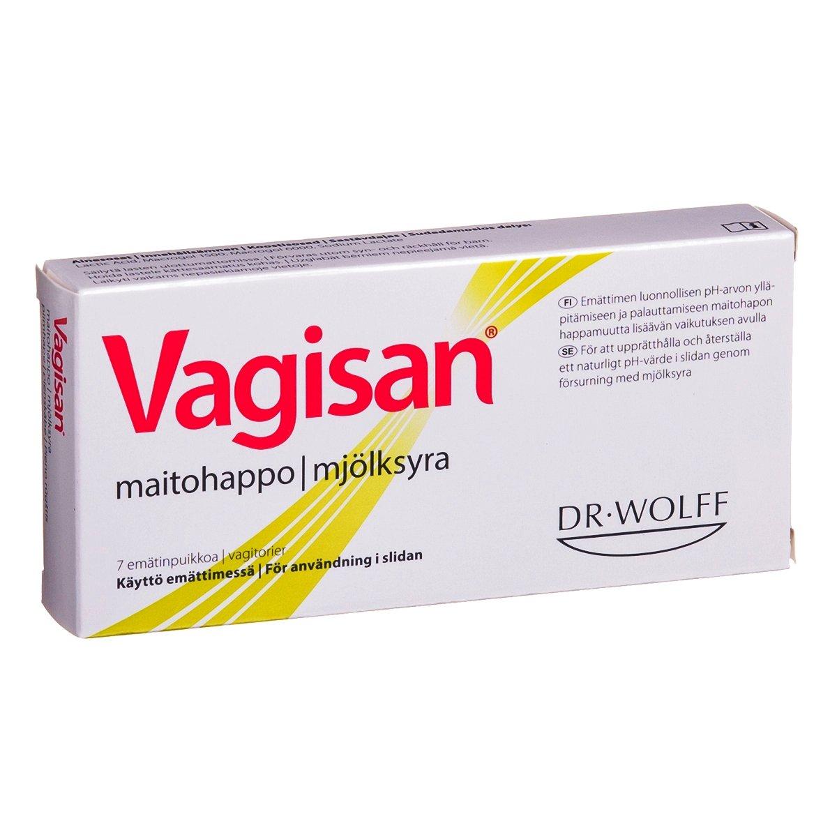 Vagisan Lactic Acid Pessaries N7.. Restores Vaginal Flora and PH. Hormone-free CE device