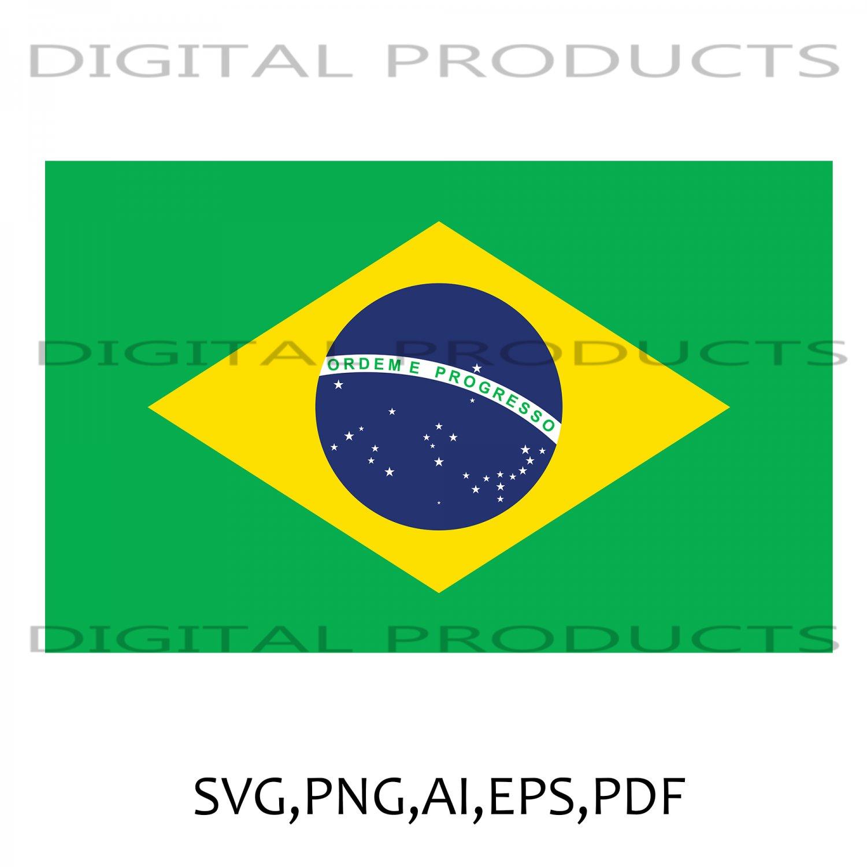 BRAZIL FLAG VECTOR SVG,PNG,AI,PDF,EPS SUBLIMATION DIGITAL DOWNLOAD FILE