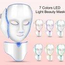 Women's Beauty - LED Light Photon Face Neck Mask Rejuvenation Skin Facial Therapy Masks 7 Colors