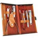 Collection Deluxe 10 Piece Manicure Set with Leather Carrying Case