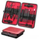 Case Manicure Set Nail Clippers Pedicure Kit Nail Care Tools - 18pcs