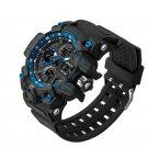 Blue Men's Army Military Sport Dual Time Alarm Waterproof Digital Analog Watch