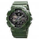 Army Green Fashion Military Men's Sport Digital Quartz Analog 50M Waterproof Wrist Watch