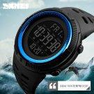 Blue Men's LED Military Digital Calendar Sports Dual Time Waterproof Watch US