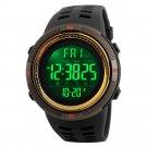 Gold Men's LED Military Digital Calendar Sports Dual Time Waterproof Watch US