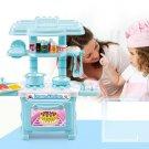 Kitchen Play Set Pretend Baker Kids Toy Cooking Playset Girls Boys - 34PCS