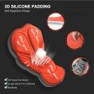 Orange Men Cycling Shorts Bicycle Bike Underwear Pants With Sponge Gel 3D Padded