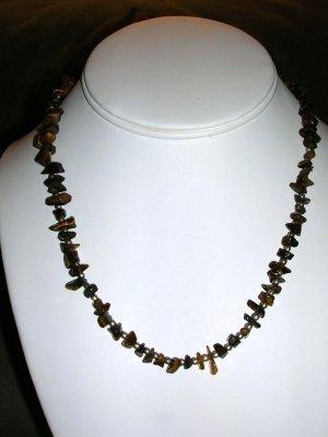 Unisex tiger's eye necklace