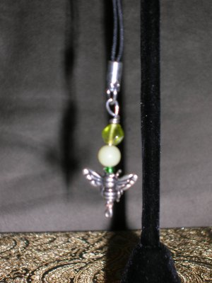 Bee cell phone charm