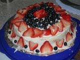 Strawberry/blueberry cake