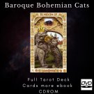 Print your letters yourself Tarot Deck Baroque Bohemian Cats more gift