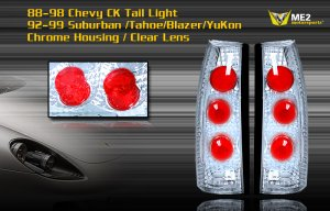 88-98 CHEVY C10/CK ALTEZZA TAIL LIGHT BLACK / CLEAR