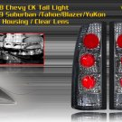 88-98 CHEVY C10/CK ALTEZZA TAIL LIGHT - BLACK / CLEAR