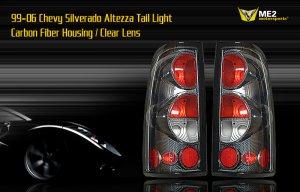 99-06 CHEVY SILVERADO ALTEZZA TAIL LIGHT CARBON FIBER