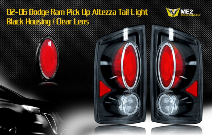 02-06 DODGE RAM PICK UP ALTEZZA TAIL LIGHT BLACK/CLEAR