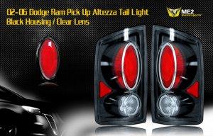 02-06 DODGE RAM PICK UP ALTEZZA TAIL LIGHT BLACK/CLEAR