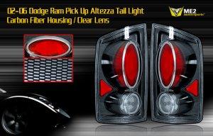 02-06 DODGE RAM PICK UP ALTEZZA TAIL LIGHT CARBON FIBER