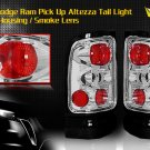 94-01 DODGE RAM ALTEZZA TAIL LIGHT CHROME SMOKE