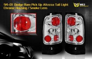 94-01 DODGE RAM ALTEZZA TAIL LIGHT CHROME SMOKE