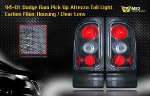 94-01 DODGE RAM ALTEZZA TAIL LIGHT CARBON FIBER