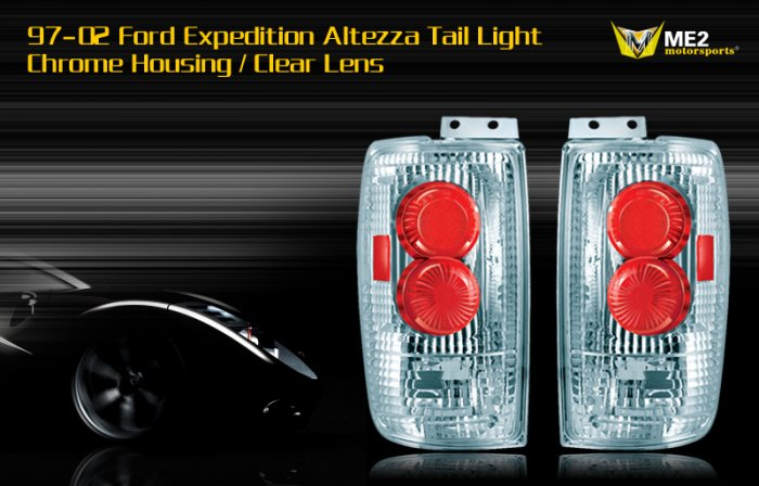 97-02 FORD EXPEDITION ALTEZZA TAIL LIGHT CHROME CLEAR