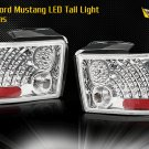 99-04 Ford Mustang LED Tail Light - CHROME CLEAR