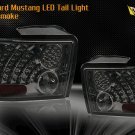 99-04 Ford Mustang LED Tail Light - CHROME SMOKE