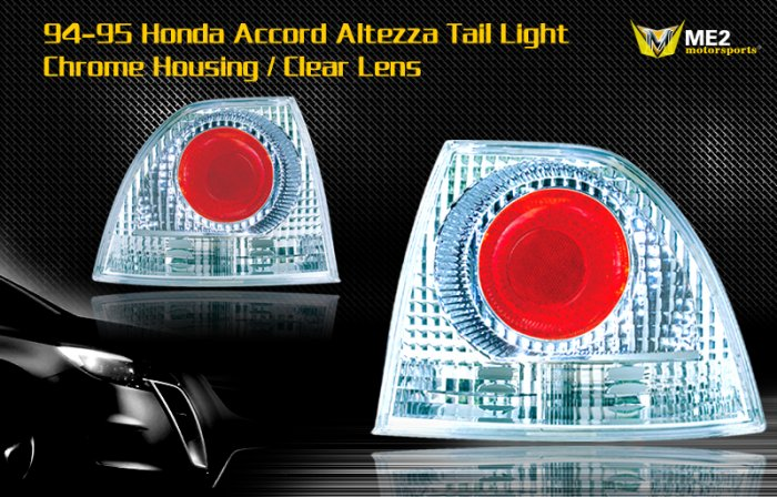 94-05 HONDA ACCORD ALTEZZA TAIL LIGHT JDM CHROME CLEAR