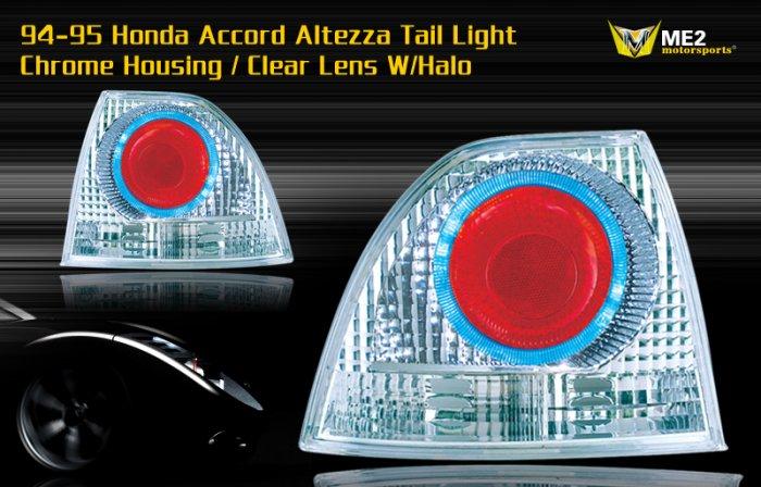 94-05 HONDA ACCORD ALTEZZA TAIL LIGHT HALO LED CHROME