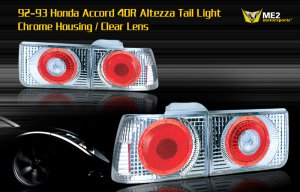 92-93 HONDA ACCORD 4DR ALTEZZA TAIL LIGHT W/ HALO - CHR