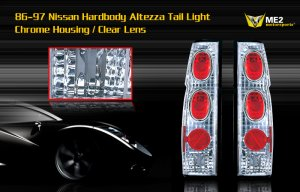 86-97 NISSAN HARDBODY ALTEZZA TAIL LIGHT CHROME CLEAR