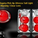 89-95 TOYOTA PICK UP ALTEZZA TAIL LIGHT CHROME CLEAR