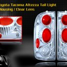 01-04 TOYOTA TACOMA ALTEZZA TAIL LIGHT JDM CHROME CLEAR