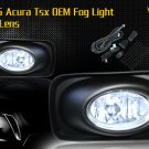 03-06 ACURA TSX JDM FOG LIGHT LAMPS CLEAR LENS