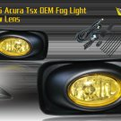 03-06 ACURA TSX JDM FOG LIGHT LAMPS YELLOW LENS