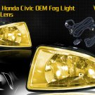 04-05 HONDA CIVIC JDM FOG LIGHT LAMPS - YELLOW