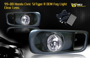 99-00 HONDA CIVIC SI/TYPE R JDM FOG LIGHT CLEAR