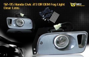 92-95 HONDA CIVIC 2/3 DR JDM FOG LIGHT LAMPS CLEAR