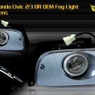 92-95 HONDA CIVIC 2/3 DR JDM FOG LAMPS LIGHT SMOKE