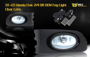 01-03 HONDA CIVIC 2/4 DR JDM FOG LIGHT CLEAR
