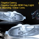 05-06 TOYOTA COROLLA CE/LE/S JDM FOG LIGHT CLEAR