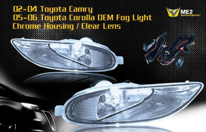 02-04 TOYOTA CAMRY / 05-06 COROLLA JDM FOG LIGHT CLEAR