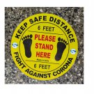Social distancing floor stickers sign 11 inch diameter Pack of 10 Stickers