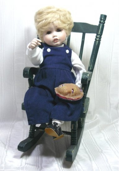 """Little Jack Horner""  Porcelain Doll, OOAK Interpretation of Connie Derek's ""Fall"", Playtime Series"