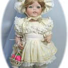 K*R (SIMON & HALBIG) 122 Reprduction All Porcelain Doll:  Lavish Spring Outfit